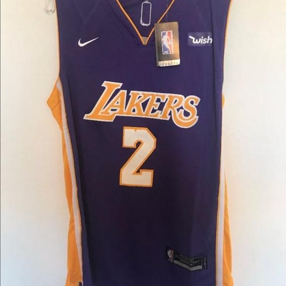 best website d8b8f 9cc27 Lonzo Ball Nike swingman LA Lakers Jersey Purple NWT